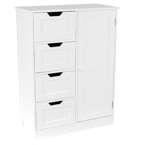 Bathroom Storage Units Free Standing Priano Free Standing Unit 4 Drawer 1 Door Bathroom Cabinet Cupboard Bath Storage Ebay