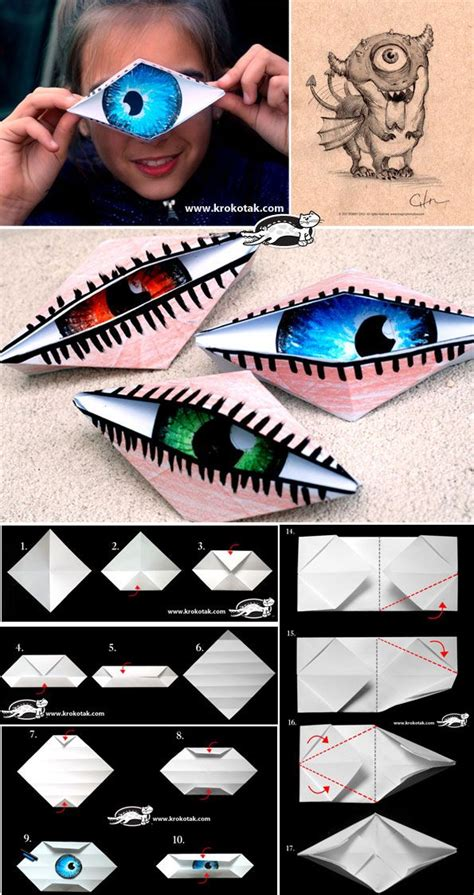Origami Eye - origami eye all for the boys
