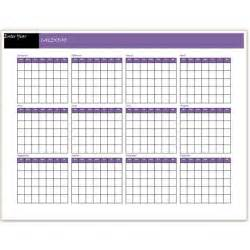Blank Yearly Calendar Template by A Free Yearly Calendar Template Word Makes It