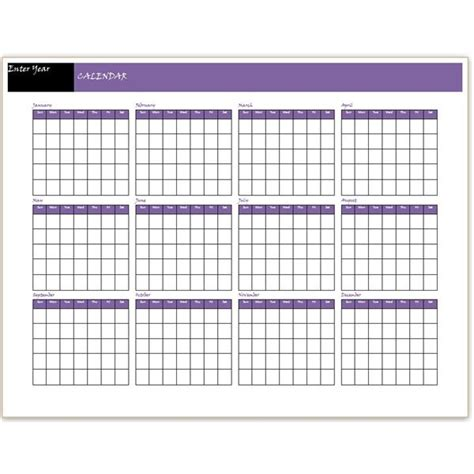 12 month calendar template word a free yearly calendar template word makes it