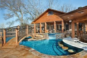 Amazing Backyards With Pools This Amazing Pool And Backyard Playground Provides Plenty Of Space For Relaxing And Entertaining