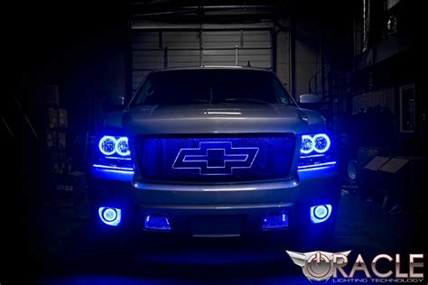 halo led lights for trucks oracle color changing halo headlight and foglight light