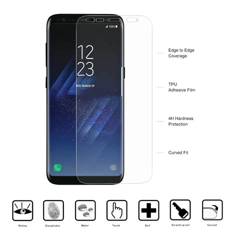 Stickerboy Samsung Galaxy S8 Screen Protector Melengkung Tpu curved fit screen protector samsung galaxy s8 plus