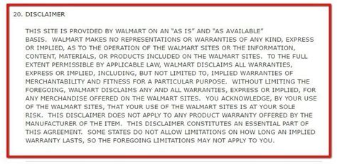 walmart warranty register policies for retail stores termsfeed