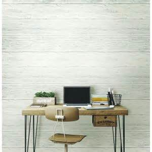 peel and stick wallpaper home depot nuwallpaper 30 75 sq ft shiplap peel and stick wallpaper