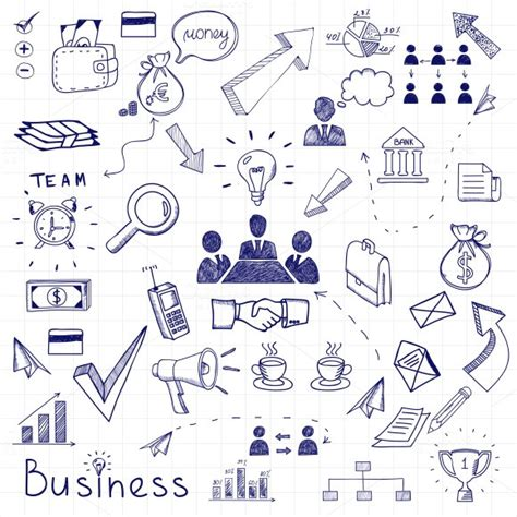 business doodle vector free business doodles illustrations on creative market