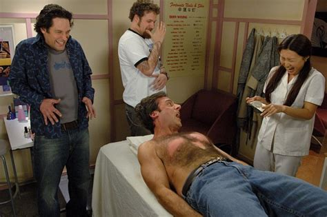 steve carell 40 year old virgin chest waxing for men as experienced by human rug brian