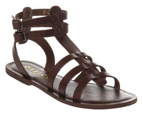 Gladiator Leather Sandals office helena gladiator choc brown leather sandals dd ebay
