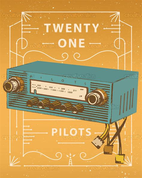 car radio twenty one pilots design poster art for twenty one pilots creative allies