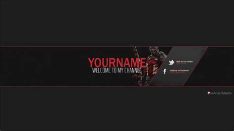 free youtube banner psd template by mightykitten