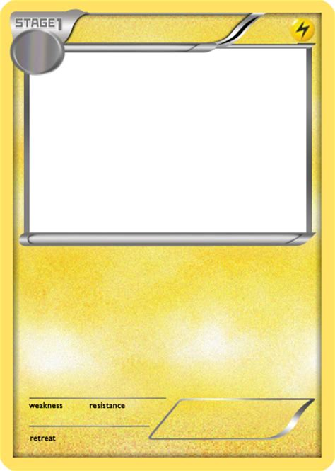make your own ex card bw lightning stage 1 card blank by the ketchi on