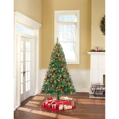 holiday time pre lit 65 madison pine white artificial christmas tree clear lights shop for the time pine artificial tree 6 5 multi color lights at walmart