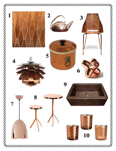 copper decor accents aesthetically speaking copper accents kishani perera