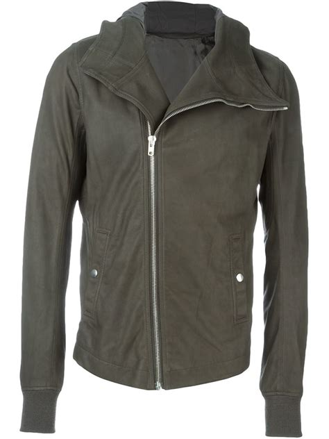 bullet for my jacket rick owens bullet jacket in khaki for grey lyst