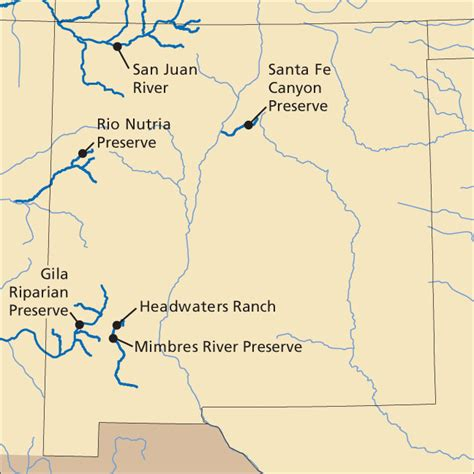 rivers of mexico map new mexico rivers and streams the nature conservancy