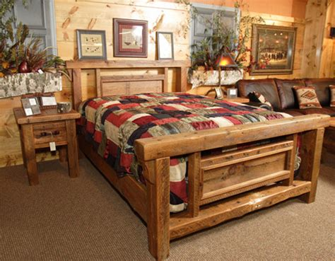 log cabin bedroom with antique wood idea chic reclaimed wood bed fashion richmond contemporary
