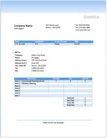 free cleaning invoice template admin free invoice templates