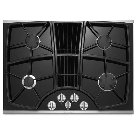 Gas Cooktop With Downdraft Shop Kitchenaid Architect Ii 4 Burner Gas Cooktop With