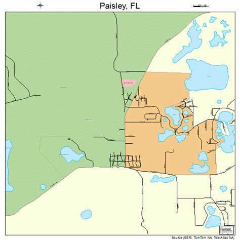 map of paisley paisley florida map 1253850