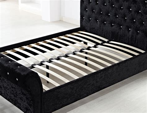 Chesterfield Bed Frame Chesterfield Sleigh Upholstered Designer 6ft 6 Quot King Size Bed Frame Cru Ebay