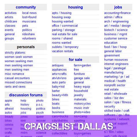craigslist dallas wwwcraigslistcom dallas craigslistcom