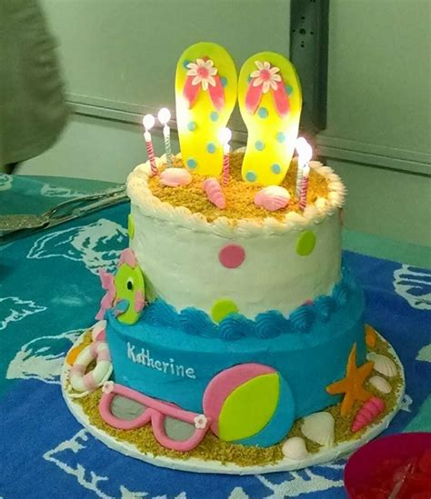 beach themed birthday cakes 20 best images about cakes on pinterest beach cupcakes