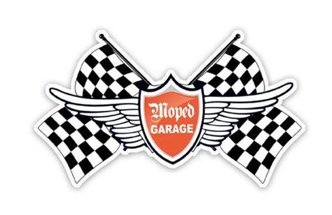 Zielflagge Aufkleber Motorrad by Moped Garage Net Moped Garage Racing Team Logo