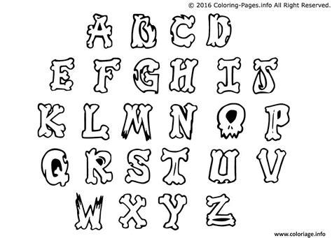 lettere dell alfabeto da colorare e stare coloriage graffiti alphabet simple letters jecolorie