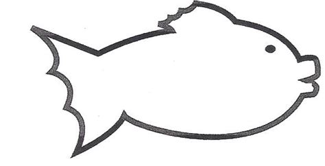 blank fish coloring pages pin blank fish template printable free on pinterest