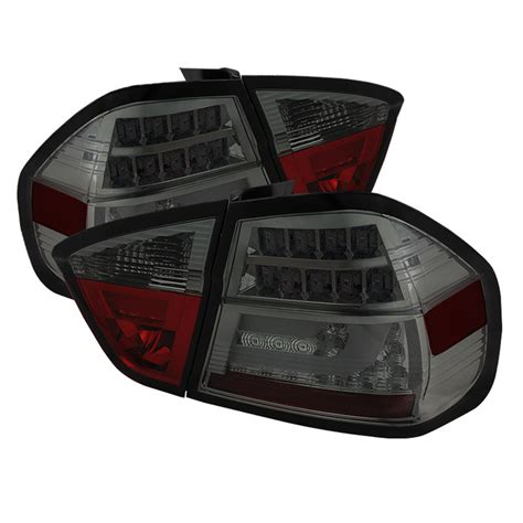 2006 bmw 330i tail lights spyder smoked lightbar style led tail lights for 2006 2008