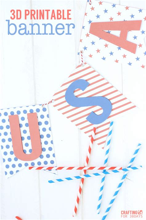 printable fourth of july banner printable 3d 4th of july banner