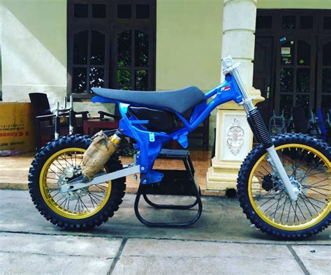 Gambar Motor Rakitan by 7 Modifikasi Motor Trail Cross Grasstrack Terbaru 2017