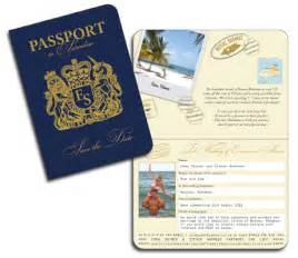 Save The Date Passport Template by Passport Invitations