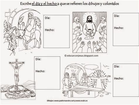 imagenes de pascua para ninos semana santa im 225 genes para colorear o pintar material