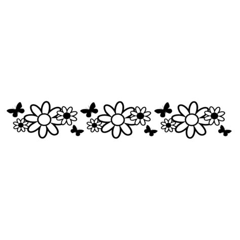 B18 Wall Border Sticker adhesive border stickers with flowers