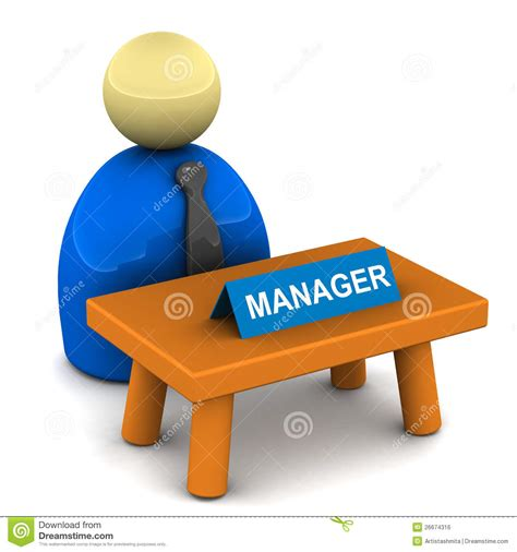 Desk It Manager by Managers Desk Royalty Free Stock Image Image 26674316