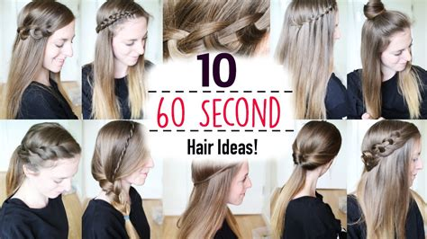 hairstyles for school in 1 minute ten 60 second heatless hairstyles 1 minute hairstyles
