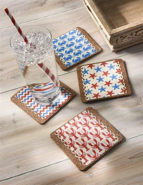 Decoupage Coasters - decoupage nautical drink coasters mod podge rocks