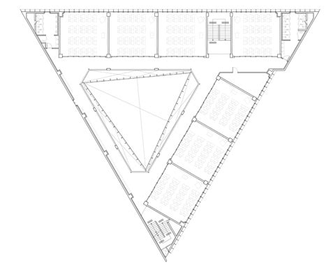 triangle floor plan triangle school by nameless architecture has a three sided