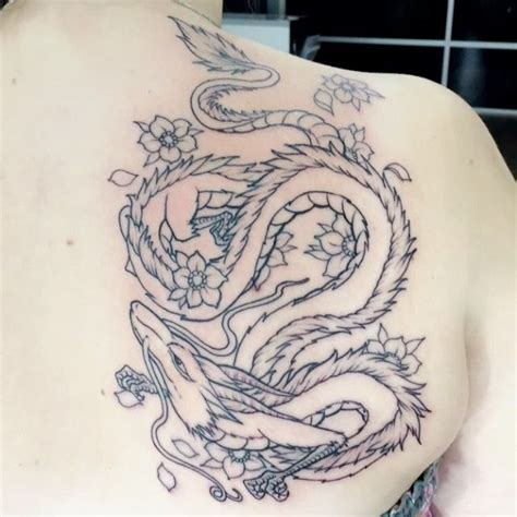 haku dragon tattoo haku from spirited away tattoos