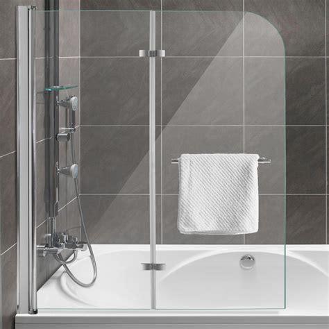 glaswand badewanne duschabtrennung dusche badewannenaufsatz faltwand
