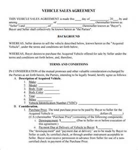 Used Vehicle Sales Agreement Template 6 Free Sales Agreement Templates Excel Pdf Formats