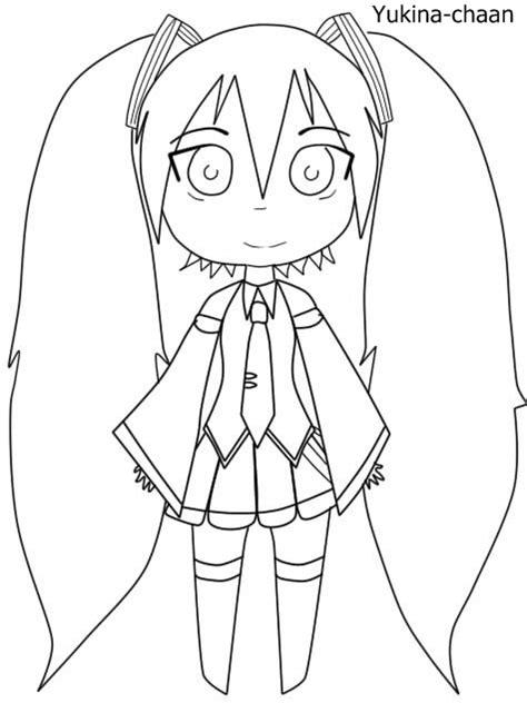imagenes de hatsune miku kawaii para colorear anime para dibujar a miku imagui