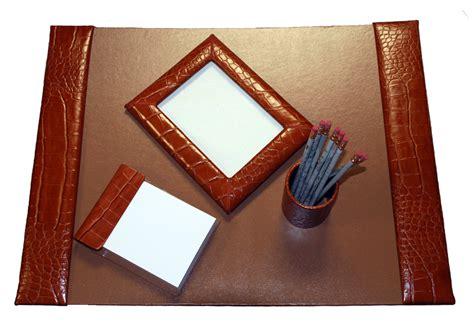 grain leather desk pad office desk set medium 4 reptile grain leather desk
