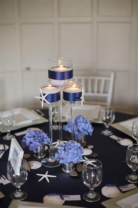 Nautical Wedding Centerpieces   nautical candle wedding