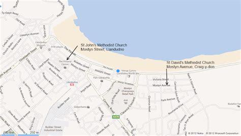 printable street map of llandudno where to find us llandudno methodists