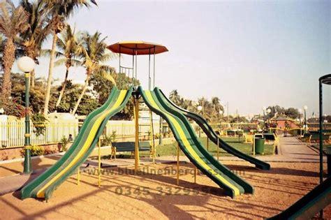 kids garden swing and slide blue line fiberglass playground equipments swing slides