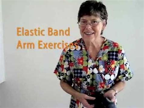 elastic band arm exercises  seniors youtube senior