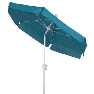 fiberbuilt umbrellas 7 5 ft patio umbrella in teal 7gcrw