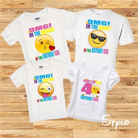 design emoji clothes emoji family shirts birthday girl emoji birthday girl shirt